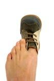 De schoen van Painfull royalty-vrije stock afbeelding