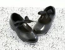 De schoenen en de muziek van de tapdans Royalty-vrije Stock Fotografie