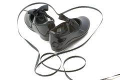 De schoenen en het hart van de dans Stock Foto