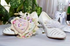 De schoenen van de bruid `s Royalty-vrije Stock Fotografie