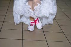 De schoenen van de bruid `s Stock Fotografie