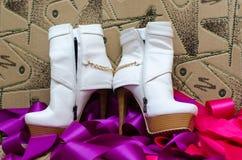 De schoenen van de bruid `s Royalty-vrije Stock Foto