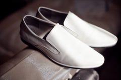De schoenen van bruidegoms Royalty-vrije Stock Afbeeldingen