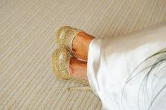 De Schoenen van bruiden stock fotografie