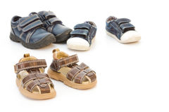 De schoenen van Childs Stock Afbeeldingen