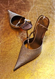 De schoenen van dames op hielen Stock Foto