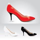 De schoenen van dames - vector Royalty-vrije Stock Fotografie