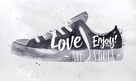 De schoenen van de affichesport Royalty-vrije Stock Foto's