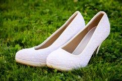 De schoenen van de bruid Stock Foto