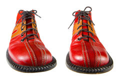De Schoenen van de clown royalty-vrije stock afbeeldingen