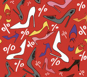 De schoenen van de de kortingsvrouw van de verkoop stock illustratie
