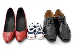 De schoenen van de familie Royalty-vrije Stock Afbeeldingen