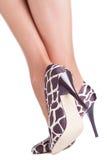 De schoenen van de girafdruk Stock Foto's