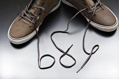De schoenen van de jongen Royalty-vrije Stock Afbeeldingen