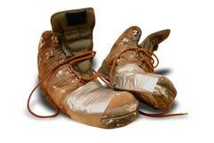 De schoenen van de landloper stock fotografie