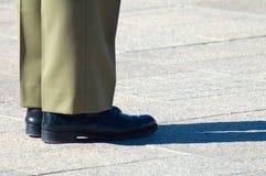 De schoenen van de militair stock afbeeldingen