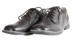 De schoenen van de school voor de jongen. Wij treffen voor school voorbereidingen. Stock Afbeeldingen