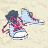 De schoenen van de sport. Tennisschoenen. Stock Afbeeldingen