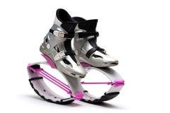 De schoenen van de sprong Stock Fotografie