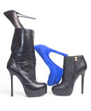 De schoenen van de vrouw stock afbeeldingen