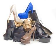 De schoenen van de vrouw royalty-vrije stock afbeeldingen