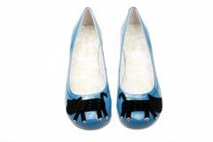 De schoenen van de vrouwen van de vrije tijd stock fotografie