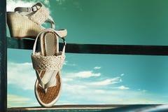 De schoenen van de zomer Stock Fotografie