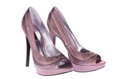 De schoenen van het brons stock afbeelding