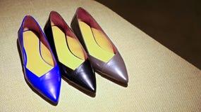 De schoenen van het damesleer Stock Afbeelding