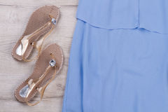 De schoenen van het de zomerstrand stock foto's