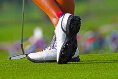 De schoenen van het golf Stock Afbeelding