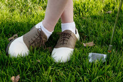 De schoenen van het golf Royalty-vrije Stock Foto