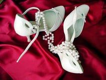 De schoenen van het huwelijk Stock Fotografie
