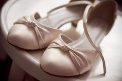 De schoenen van het huwelijk Stock Afbeelding