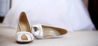 De schoenen van het huwelijk royalty-vrije stock fotografie