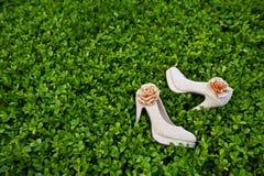 De schoenen van het huwelijk Stock Afbeeldingen