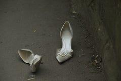 De schoenen van het huwelijk. royalty-vrije stock foto's