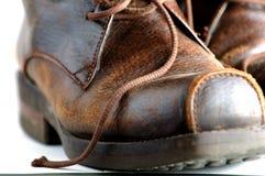 De schoenen van het leer Stock Foto