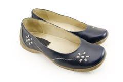 De schoenen van het leer Stock Afbeeldingen