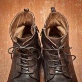 De schoenen van het luxeleer Stock Foto