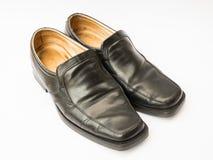 De schoenen van het mensenleer op wit worden geïsoleerd dat Royalty-vrije Stock Foto