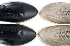 De schoenen van het sportenleer royalty-vrije stock afbeeldingen