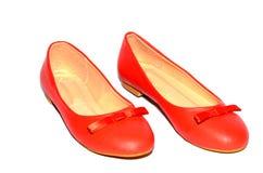 De schoenen van het vrouwenleer Stock Foto's