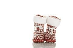 De schoenen van Kerstmis (Kousen) Royalty-vrije Stock Foto's