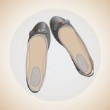 De schoenen van klassieke vrouwen Stock Afbeelding