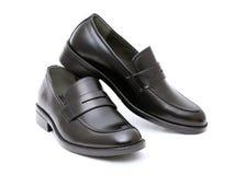 De schoenen van leermensen Stock Foto