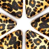 De schoenen van de luipaardhuid royalty-vrije stock afbeelding