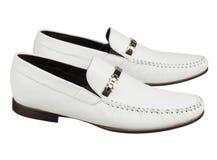 De schoenen van maniermensen op wit Royalty-vrije Stock Foto