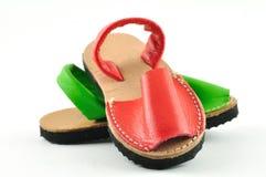 De schoenen van Menorca Royalty-vrije Stock Fotografie