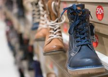 De Schoenen van de mensen` s Winter royalty-vrije stock foto's